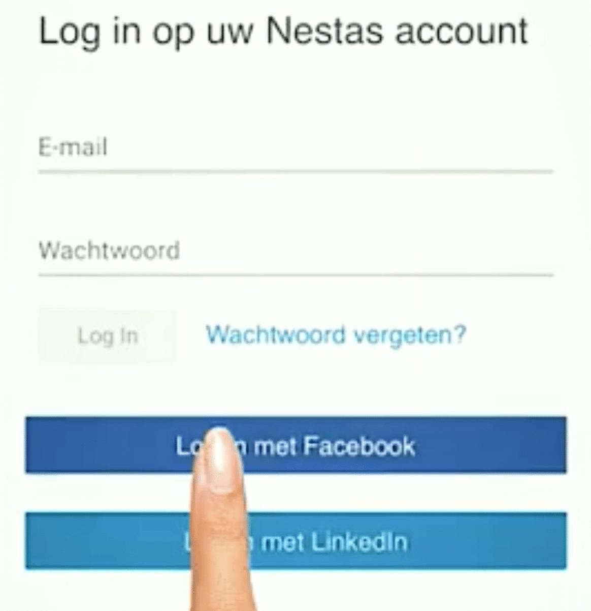 log in nestas platform